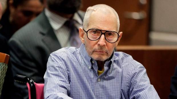 In this Dec. 21, 2016 file photo, Robert Durst sits in a courtroom in Los Angeles. (AP Photo/Jae C. Hong, Pool, File)