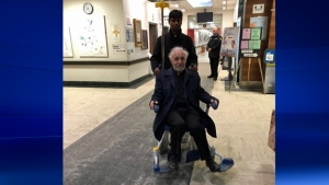 Fr. Claude Grou was released from hospital Friday evening (photo: CTV Montreal / Max Harrold)