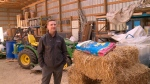 Derek Dery on his farm near Saskatoon. (Ryan Fletcher/CTV Saskatoon)