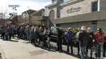 'Human chain' protects Victoria mosque