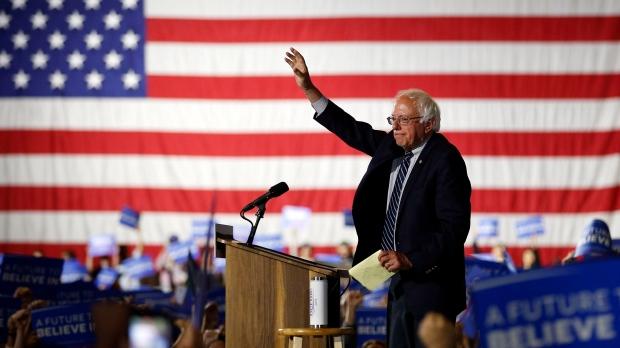In this June 7, 2016 file photo, Democratic presidential candidate Sen. Bernie Sanders, I-Vt., speaks at a rally in Santa Monica, Calif. (AP Photo/John Locher, File)