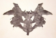 This image shows an example from the Rorschach ink blot test.