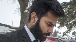 Jaskirat Singh Sidhu leaves his sentencing hearing Thursday, January 31, 2019 in Melfort, Sask. (THE CANADIAN PRESS / Ryan Remiorz)