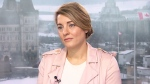 Liberal Minister Melanie Joly is seen here during an interview with CTV's Question Period.