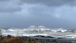 Norwegian newspaper VG said the Viking Sky cruise ship ran into propulsion problems as strong winds and heavy seas hit Norway's coastal regions Saturday. (Odd Roar Lange)