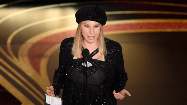 """Barbra Streisand introduces """"BlacKkKlansman"""" at the Oscars on Sunday, Feb. 24, 2019, at the Dolby Theatre in Los Angeles. (Photo by Chris Pizzello/Invision/AP)"""