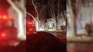 The Winnipeg Fire Paramedic Service responded to reports of a fire around 11:20 p.m. (Source: Keegan Driedger)