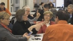 The first of five public brainstorming sessions on last year's historic flood was held Saturday in Quispamsis, N.B.
