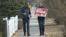 David Khan, leader of the Alberta Liberal Party, is running in Calgary-Mountain View, the same riding held by his predecessor David Swann.