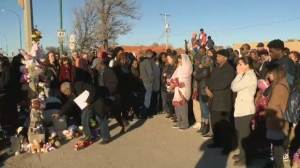 On Friday her father attended the vigil, which was held at the scene of the crash, where community members gathered to grieve. (Credit: CTV News)