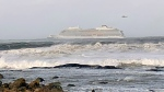 The cruise ship Viking Sky after it sent out a Mayday signal because of engine failure in windy conditions off the west coast of Norway, Saturday March 23, 2019. (Odd Roar Lange / NTB scanpix via AP)