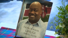 The life of Derick Lwugi was remembered during a memorial service on March 23, 2019. The 53-year-old father of three died in the Ethiopian Airlines crash on March 10.