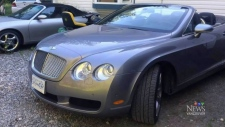 Stolen Bentley abandoned near Summerland