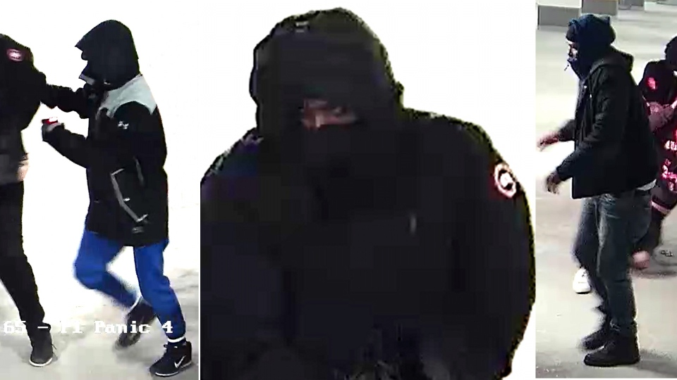 (left to right) Suspects 1, 2, and 3 in the Markham kidnapping of 22-year-old Wanzhen Lu are pictured in these images distributed by York Regional Police. (YRP /Handout)