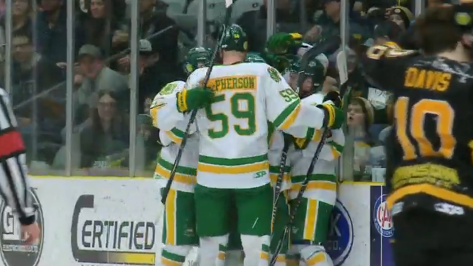 Nearly a year after a tragic bus crash, the Humboldt Broncos hockey team are one game away from clinching the quarter-finals against the Estevan Bruins.