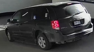 Police in Markham, Ont., are looking for this wheelchair-accessible Dodge Caravan in connection with the disappearance of Wanzhen Lu. (York Regional Police)