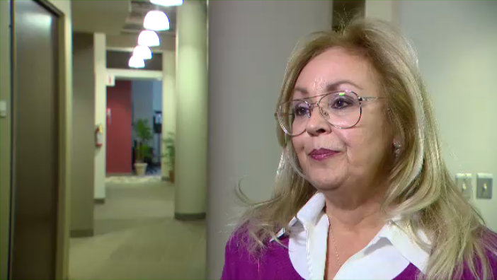 "Montreal councillor Lynne Shand has apologized for a Facebook comment about what she called the ""Islamization"" of Canada after she was treated by a woman in a hijab during an emergency eye exam. (CTV Montreal)"