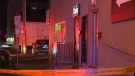 Xhale Lounge was taped off by officers early Sunday morning, and the area was closed for an investigation.