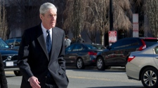 Special Counsel Robert Mueller walks to his car after attending services at St. John's Episcopal Church, across from the White House, in Washington, Sunday, March 24, 2019. (AP Photo/Cliff Owen)