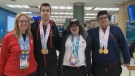 Four athletes from Edmonton and Whitecourt returned to Alberta on Saturday, having been part of a provincial team that earned 27 medals at the Special Olympics World Summer Games.