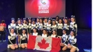 The Maples Collegiate pom team finished in fourth place, representing Manitoba and Canada, at the 2019 World School Performance Cheer Championships in Orlando last month. (Credit: Kelcie Terrick)