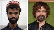 Rozi Khan and Peter Dinklage