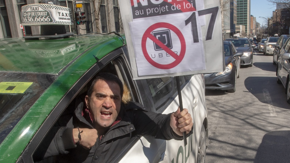 montreal taxi protest