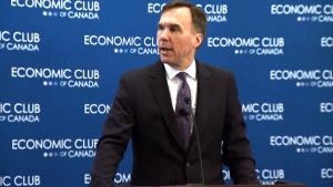 Finance Minister Bill Morneau speaks
