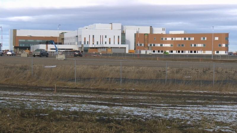 File photo. Grande Prairie hospital construction, 2019.