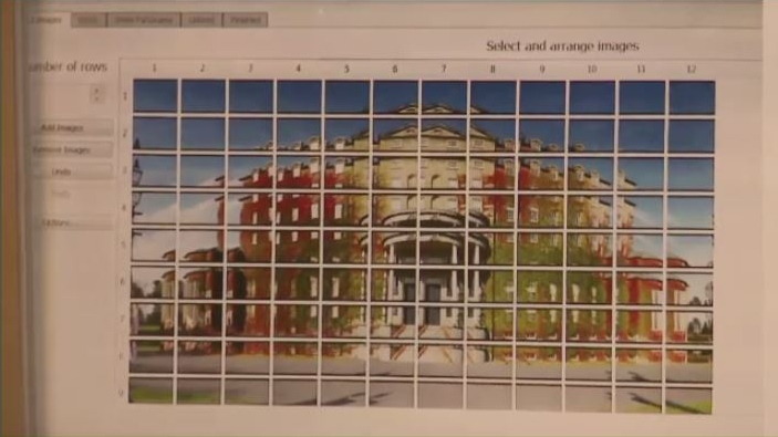 Davidson's Gigapan image of Government house is 108 separate photos woven together as one digital file.