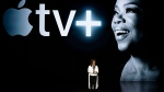 Oprah Winfrey speaks at the Steve Jobs Theater during an event to announce new Apple products Monday, March 25, 2019, in Cupertino, Calif. (AP / Tony Avelar)