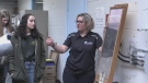 Julie Friel, manager of Sudbury's water treatment, talks to students about the science behind treating drinking water. (Molly Frommer/CTV Northern Ontario)