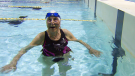 At 95 years old, Betty Brussel feels most at home in the pool. March 25, 2019.