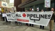 Pro-pipeline rally - Calgary