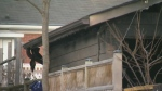 A garage fire in Kitchener Monday evening caused around $50,000 in damages.