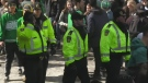 Waterloo's task force spoke with dozens of students Monday about large gatherings such as St. Patrick's Day on Ezra.