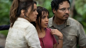 Eva Longoria, Isabela Moner and Michael Peña in 'Dora and the Lost City of Gold'. (Courtesy of Paramount Pictures France)