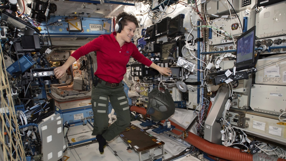 Flight Engineer Anne McClain aboard the ISS