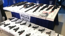 Some of the weapons seized by Peel Regional Police in Project Baron.
