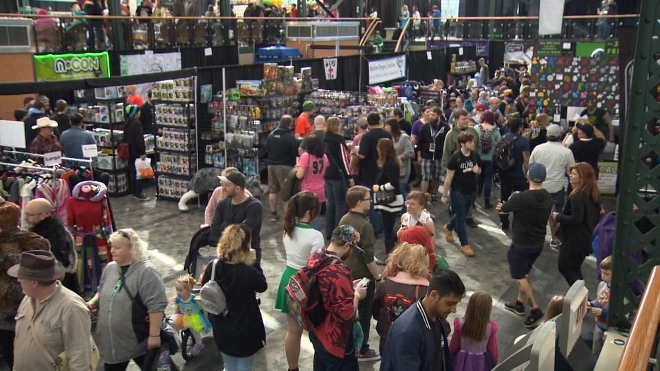 Crowds packed the Victoria Conference Centre and Crystal Gardens for the second annual Capital City Comic Con. March 23, 2019. (CTV Vancouver Island)