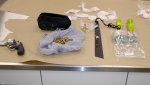 Police seized drugs and weapons following a weeks-long investigation in the community of Erin Woods.
