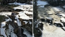 Chris Carrier took these photos 15 minutes apart at Maligne Canyon on Sunday, Mar. 24.