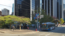 The corner of Burrard and Melville Street in downtown Vancouver is seen in this undated Google Maps image.