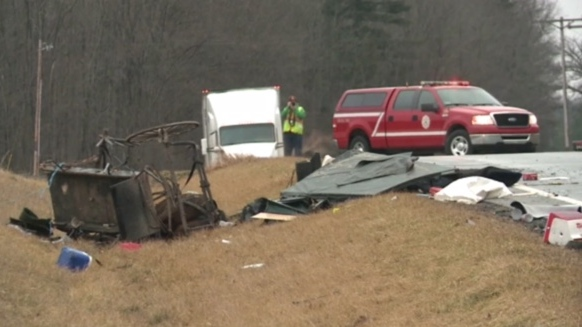 The aftermath of a collision involving a horse and buggy is seen in this file photo. (Scott Miller / CTV London)