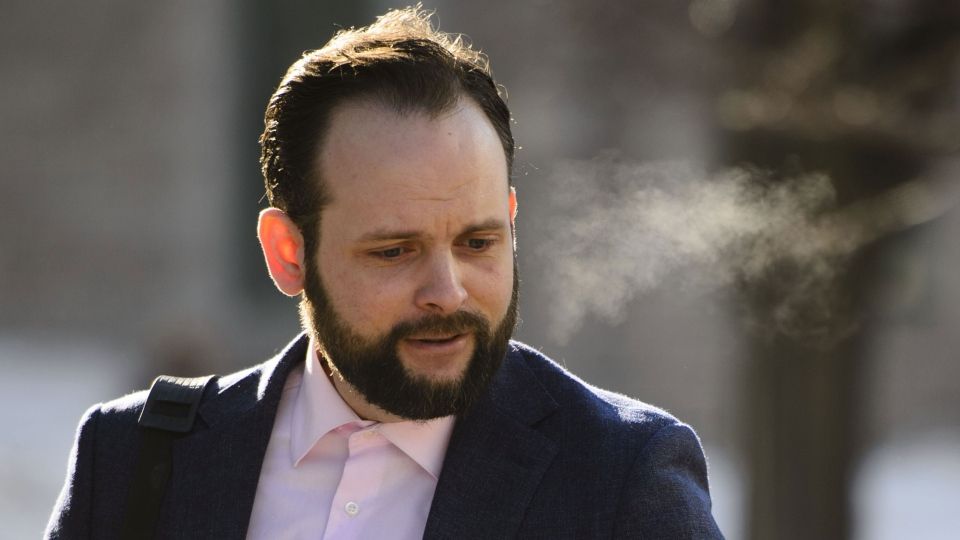 Joshua Boyle arrives to court in Ottawa on Monday, March 25, 2019. THE CANADIAN PRESS/Sean Kilpatrick