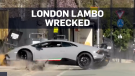 Driver wrecks expensive Lambo seconds into drive