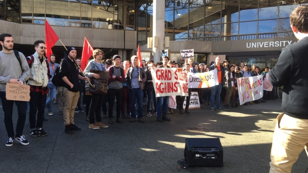 Uvic student protest