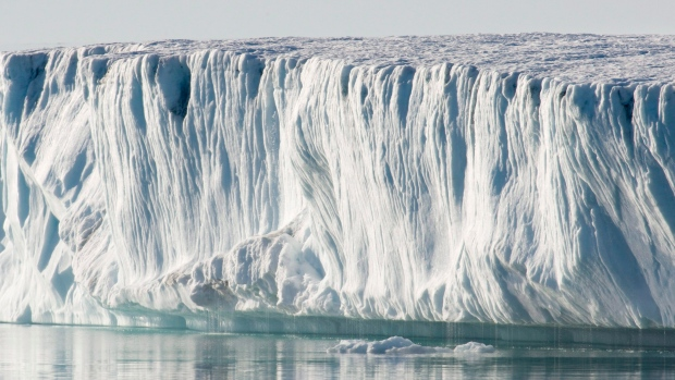 Ice is seen in Baffin Bay