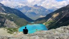 Joffre Lakes Provincial Park is shown. (Instagram / @dominiqbliz)
