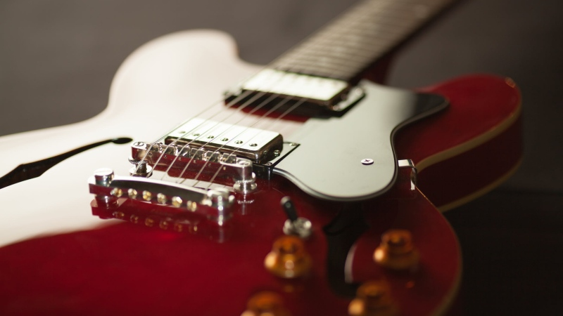 An electric guitar is pictured in this file photo.